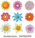 isolated cartoon hand drawn...   Shutterstock .eps vector #269304395