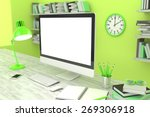 3d illustration office workplace | Shutterstock . vector #269306918