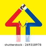 grow hand in hand | Shutterstock .eps vector #269318978