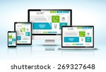 modern devices with web design... | Shutterstock .eps vector #269327648