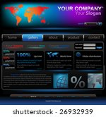 vector editable website template   Shutterstock .eps vector #26932939