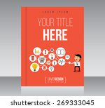 business cover design vector... | Shutterstock .eps vector #269333045