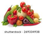 fresh  ripe vegetables isolated ... | Shutterstock . vector #269334938