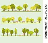 set of different fruit trees....   Shutterstock .eps vector #269349122