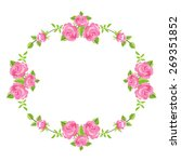 floral background with roses... | Shutterstock .eps vector #269351852
