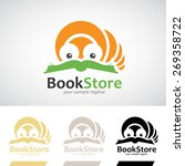 book worm reading a book logo... | Shutterstock .eps vector #269358722