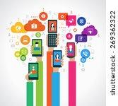 concept mobile marketing. the... | Shutterstock .eps vector #269362322