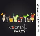 pina colada  dry martini ... | Shutterstock .eps vector #269375105