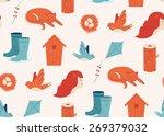 spring pattern for wallpaper ... | Shutterstock .eps vector #269379032
