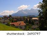 mountain villag | Shutterstock . vector #2693797