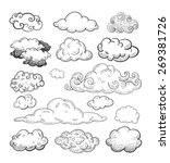 Doodle Collection of Hand Drawn Vector Clouds | Shutterstock vector #269381726
