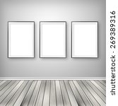 gallery interior with three... | Shutterstock . vector #269389316