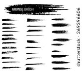 vector set of grunge brush... | Shutterstock .eps vector #269396606
