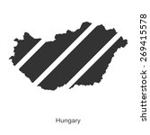 black map of hungary for your... | Shutterstock .eps vector #269415578
