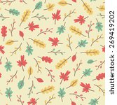 amazing cute seamless vintage... | Shutterstock .eps vector #269419202