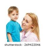 portrait of nice boy  child ... | Shutterstock . vector #269422046
