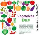 bright vegetable set in flat...   Shutterstock .eps vector #269422055