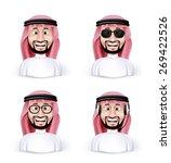 set of 3d dimension saudi arab... | Shutterstock .eps vector #269422526