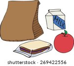 Paper Bag Lunch   Clip Art  ...