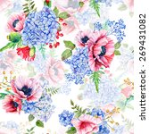 Seamless Pattern. Watercolor...