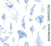 seamless pattern of watercolor...   Shutterstock . vector #269431256