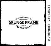 abstract grunge frame. vector... | Shutterstock .eps vector #269435156