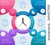 infographic time management... | Shutterstock .eps vector #269437505