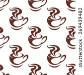 seamless pattern with brown... | Shutterstock .eps vector #269439482