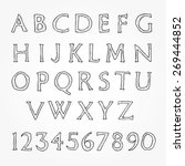 hand written alphabet   letters ...   Shutterstock .eps vector #269444852