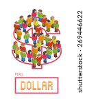 illustration of dollar made up... | Shutterstock .eps vector #269446622