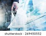 businessman holding...   Shutterstock . vector #269450552