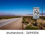 desert highway to horizon with... | Shutterstock . vector #2694506