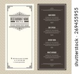 restaurant or cafe menu vector...   Shutterstock .eps vector #269455955