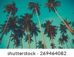 Retro Toned Palm Trees On Over...