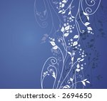 floral background. Ideally for use in your design - stock vector