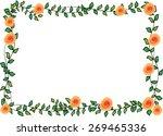 orange rose with leaf card... | Shutterstock .eps vector #269465336