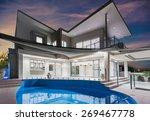 modern new luxurious mansion... | Shutterstock . vector #269467778