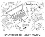 concept of creative hand drawn... | Shutterstock .eps vector #269470292