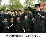 large group of graduates... | Shutterstock . vector #26947537