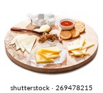Cheese Platter. Variety Of...