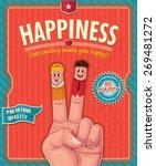 Vintage Happiness Poster Design