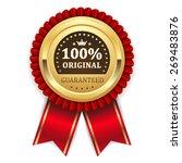 gold 100 percent original badge ... | Shutterstock .eps vector #269483876