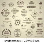 premium quality labels set.... | Shutterstock .eps vector #269486426