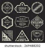 vector set of vintage labels.... | Shutterstock .eps vector #269488202