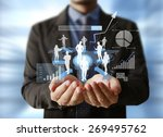 businessman with financial... | Shutterstock . vector #269495762