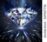 dazzling shiny colorful diamond ...   Shutterstock .eps vector #269507756