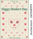 mothers day design over brown... | Shutterstock .eps vector #269508995