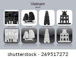 landmarks of vietnam. set of... | Shutterstock .eps vector #269517272