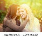 girls gossiping | Shutterstock . vector #269525132
