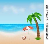 summer background. tropical sea ... | Shutterstock . vector #269526485